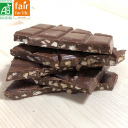 Chocolat au lait aux amandes BIO
