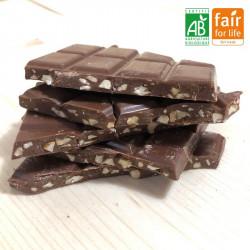 Chocolat au lait aux amandes Bio Vrac